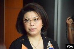 香港大律師公會主席譚允芝。(美國之音湯惠芸攝)