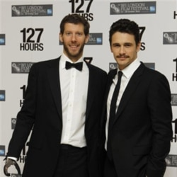 Climber Aron Ralston, left, and actor James Franco
