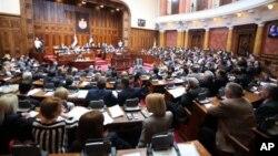 Sednica Skupštine Srbije (AP Photo/Darko Vojinovic)