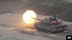 22일 경기도 포천에서 실시된 미·한 연합 통합화력훈련.