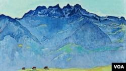 Фердинанд Ходлер. Пейзаж. 1916 г.