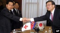 지난 2002년 중국 베이징에서 열린 북한, 일본간 적십자 회담. (자료사진)