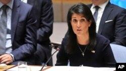 خانم هیلی به متحدان کره شمالی نیز هشدار داد دست از حمایت از پیونگ یانگ بردارند.