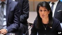 Nikki Haley no Conselho de Segurança da ONU