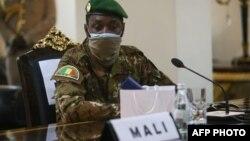 Le colonel Assimi Goita lors de la réunion de la Cédéao à Accra, Ghana, le 15 septembre 2020.