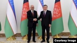 Afg'oniston Prezidenti Ashraf G'ani O'zbekiston rahbari Shavkat Mirziyoyev bilan, 2018
