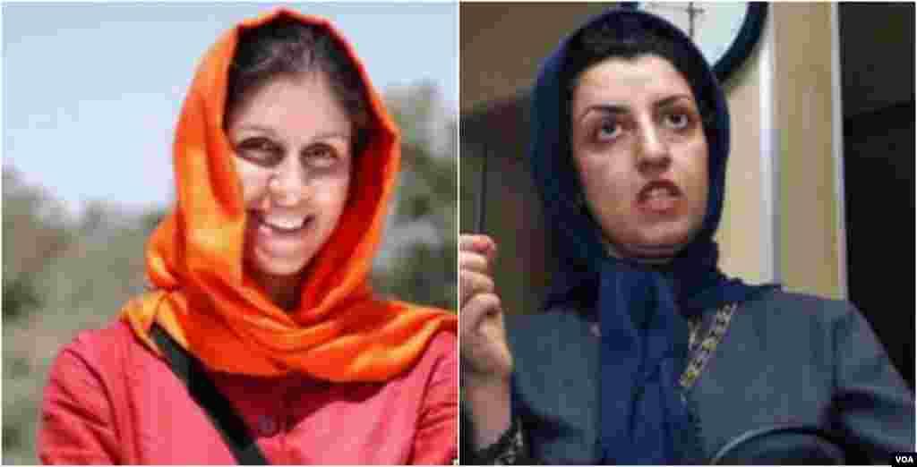 نازنین زاغری و نرگس محمدی زندانی در ایران زندانی هستند. آنها در اعتراض به بی عدالتی از امروز اعتصاب غذای خود را آغاز کردند.