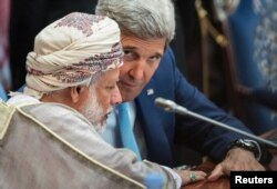 Ummon Tashqi ishlar vaziri Yusuf bin Alaviy bin Abdulla, Davlat kotibi Jon Kerri