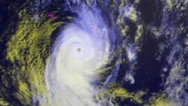 Tropical Cyclone Ian is seen in this NOAA GOES satellite handout image taken at 14:00 GMT Jan. 12, 2014.