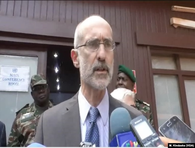 Kenneth Gluck, the U.N.'s deputy special representative and deputy head of MINUSCA in Bangui, C.A.R., Dec. 27, 2018, said that if the stability of the last year holds, displaced persons can return to the western part of the country.