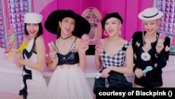 Lisa, Jisoo, Rose and Jennie of South Korean girlgroup Blackpink in their music video 'Ice Cream'