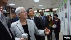 奧巴馬總統時期的部長級官員、美國環保署署長吉娜·麥卡錫訪問台北。(2014年資料照)
