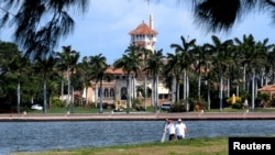 川普總統在佛羅里達州大西洋海濱的豪華別墅海湖莊園(Mar-a-Lago)。川習會將在這裡舉行。(2017年3月5日資料照片)