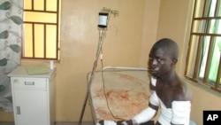 Korban serangan Boko Haram dirawat di sebuah rumah sakit di Maiduguri, Nigeria, 28 Desember 2015.