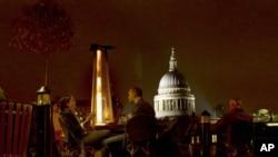 倫敦聖保羅大教堂關閉一個星期之後月星期一重新開放