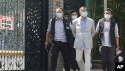 ေဟာင္ေကာင္မွာ ဒီမိုကေရစီေရးလႈပ္႐ွားမႈေတြကို အခိုင္အမာေထာက္ခံအားေပးသူ မီဒီယာလုပ္ငန္း႐ွင္သူေ႒းႀကီး Jimmy Lai (ၾသဂုတ္ ၁၀၊ ၂၀၂၀)