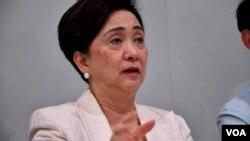香港民主黨國際關係委員會主席劉慧卿。(美國之音湯惠芸拍攝)