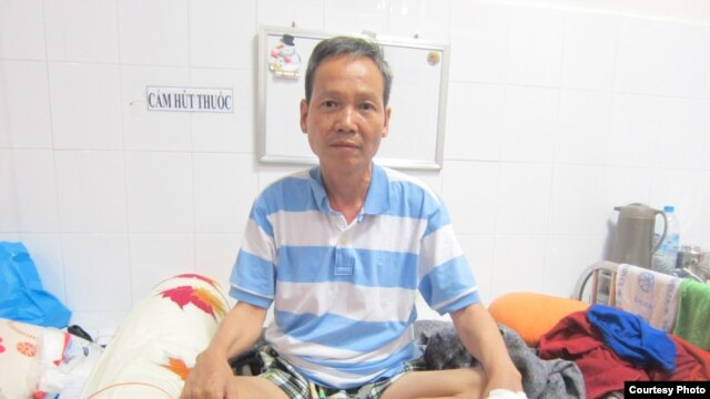 Vietnamese environmental activist Dinh Dang Dinh is on medical parole while suffering from final stages of stomach cancer. (Courtesy: Dinh Family)