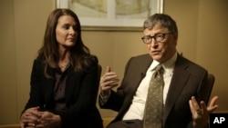 Melinda et Bill Gates ont donné 1,5 milliards de dollars en 2014 (AP)
