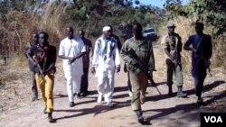 Forças do Movimento Frente Democrática de Casamance com o lider Salif Sadio
