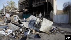 伊拉克靠近巴格達一處地方7月3日發生一系列爆炸多人喪生。(資料照片)