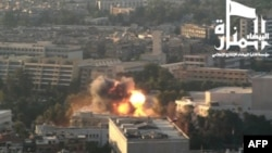 Image from Jabhat al-Nusra video that claims responsibility for September bombing of army headquarters in Damascus. (AFP)
