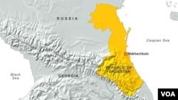 Peta wilayah Dagestan, Rusia. Seorang pejabat keamanan Ingushetia, Rusia dilaporkan tewas ditembak, Selasa (27/8).