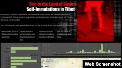 Self-Immolators in Tibet Interactive Screenshot