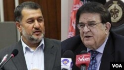 عبدالرحیم وردک وزیر دفاع و بسم الله محمدی وزیر داخله افغانستان