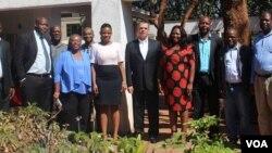 U-ambassador Bruce Wharton evalelisana lentathelizindaba eHarare