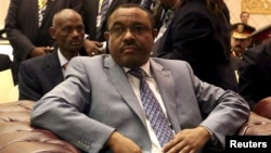 Ethiopian Prime Minster Hailemariam Desalegn is seen during a visit to Khartoum, Sudan, March 23, 2015.