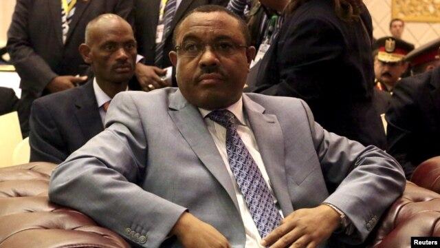 Ethiopian Prime Minster Hailemariam Desalegn is seen during a visit to Khartoum, Sudan, March 23, 2015.