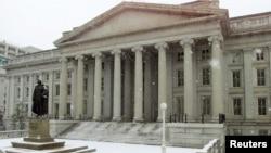 美國財政部大樓。