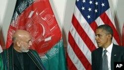 Աֆղանստանի նախագահ Համիդ Քարզայն ու ԱՄՆ-ի նախագահ Բարաք Օբաման (արխիվային լուսանկար)