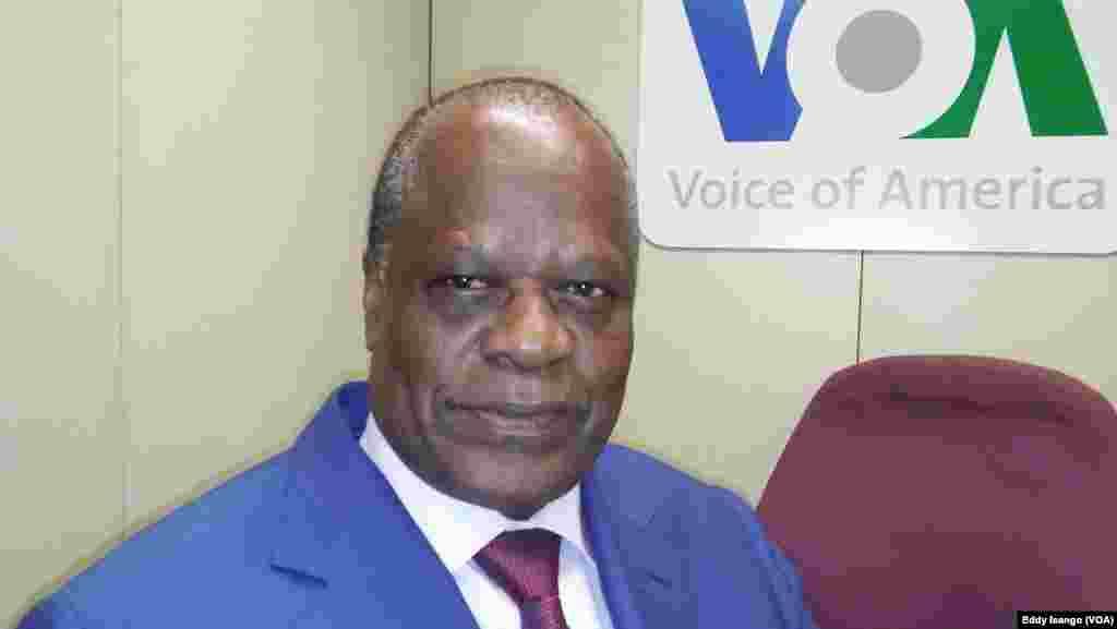 Le ministre d'Etat de la République du Congo en charge de l'agriculture, Henri Djombo, à Washington DC, 13 octobre 2016. VOA/Eddy Isango