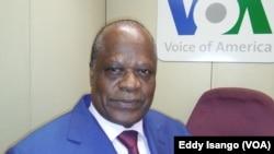 Henri Djombo, à Washington DC, 13 octobre 2016. VOA/Eddy Isango