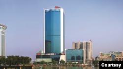 美国驻武汉总领事馆所在的武汉世界贸易大厦(美驻武汉总领馆网站照片)