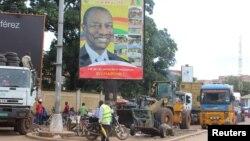 几内亚的孔戴竞选海报。