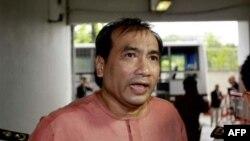 Ông Joe Gordon, công dân Mỹ sinh ở Thái Lan, tại tòa án hình sự ở Bangkok, ngày 10/10/2011