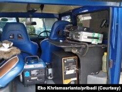 Station mobile saat di lokasi bencana. (Foto: Eko Khrismasrianto/pribadi)