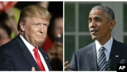 Donald Trump bertemu dengan Presiden Barack Obama di Gedung Putih hari Kamis (10/11).