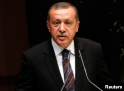FILE - Turkish President Tayyip Erdogan