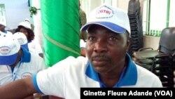 Moudassirou Bachabi, secrétaire générale de la confédération générale des travailleurs à Cotonou, 8 juin 2017. (VOA/Ginette Fleure Adande)