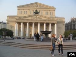 莫斯科大劇院外觀(美國之音白樺拍攝)
