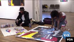 Artists James Terrell and Zsudayka Nzinga Terrell explore their identity and express it through their art works.
