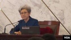 中國全國人大發言人傅瑩(視頻截圖)