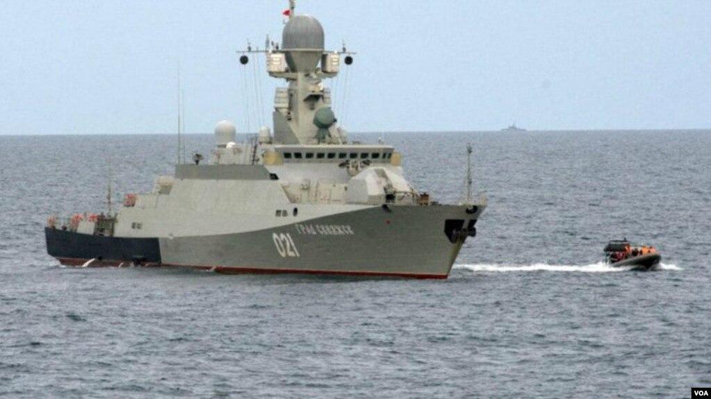 Російський корабель у Каспійському морі