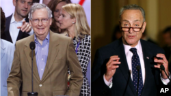Senator Mitch McConnel (kiri) dan Chuck Schumer (foto: dok).