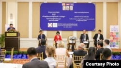 Nick Beresford, United Nations Development Programme Cambodia Country Director, at a seminar in Phnom Penh, Cambodia, September 3. 2018. (Courtesy photo of UNDP Cambodia)