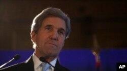 John Kerry sakataren harkokin wajen Amurka wanda ya bada umurnin ficewar shekaran jiya.